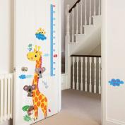 Giraffe Bear Bird Height Measurement Wall Sticker Decal Home Decor PVC Murals Wallpaper House Art Picture Living Room Adult Senior Teen Kids Baby Bedroom Decoration