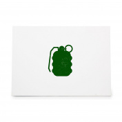 Grenade Frag Smoke Room Cleaner Style 7404, Rubber Stamp Shape great for Scrapbooking, Crafts, Card Making, Ink Stamping Crafts