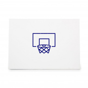 Basketball Hoop Health Lifestyle Physical Activity Style 7264, Rubber Stamp Shape great for Scrapbooking, Crafts, Card Making, Ink Stamping Crafts