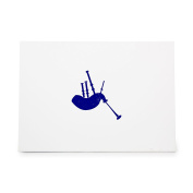 Bagpipe Bagpipes Horn Instrument Music Scottish Style 7057, Rubber Stamp Shape great for Scrapbooking, Crafts, Card Making, Ink Stamping Crafts