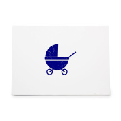 Baby Carriage Carrier Style 6989, Rubber Stamp Shape great for Scrapbooking, Crafts, Card Making, Ink Stamping Crafts