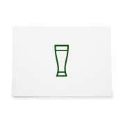Weizen Glass Bar Beer Cup Style 6246, Rubber Stamp Shape great for Scrapbooking, Crafts, Card Making, Ink Stamping Crafts