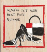 Best Foot Forward Rubber Stamp