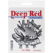 Deep Red Stamps Art Degree Rubber Stamp