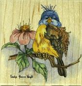 Bluebird Rubber Stamp