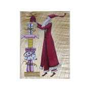 Santa With Gifts Rubber Stamp