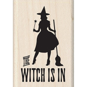 Inkadinkado Halloween Mounted Rubber Stamp, The Witch is in, 4.4cm by 6.4cm