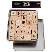 Lower Case Party Ink Alphabet Rubber Stamp SetNew by