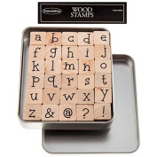 Lower Case Kids Play Alphabet Rubber Stamp SetNew by