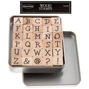 Upper Case Kids Play Alphabet Rubber Stamp SetNew by