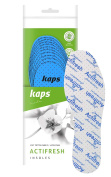 Kaps Actifresh - hygienic shoe insoles with antibacterial technology by Sanitised, made in Europe, all sizes, cut to fit