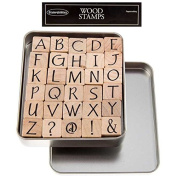Upper Case Party Ink Alphabet Rubber Stamp SetNew by