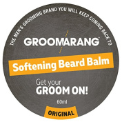 Groomarang Premium Softening Beard Balm For Beards, Moustache, & Goatee 60ml - Promotes Healthy Beard Growth - 100% Natural, Organic & Vegan