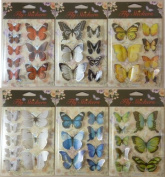 Kandytoys 1 Sheet Of 3d Butterfly Stickers -scrapbooks, Arts & Crafts, Home Decor