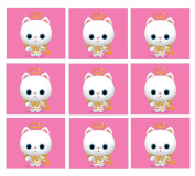 9 Angel Kitty Stickers, Toy Story That Time Forgot, Favours, Crafts, Scrapbooking, Rewards, Gifts, Party Supplies, Birthday
