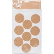 Lucky Dip Cork Stickers 2/Pkg-Circles 5.1cm