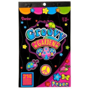 2 BOOKS of - GROOVY GARDEN Mini STICKERS - 60's RETRO Hippie PEACE Love Butterfly Flower Power (428 total stickers) Kid's ACTIVITY/Craft PARTY Favours