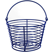 CrazyGadget® Country Farm Stye Strong Colour Metal Wire Egg Holder Stand Basket with Handle - Holds More Than 24 Eggs