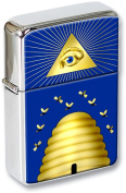 Masonic Beehive Flip Top Lighter in a Gift Tin