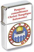 Knights Templar Seal Reverse (Temple) Flip Top Lighter in a Gift Tin