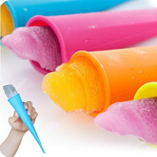 Silicone Ice Pop Mould Set - Popsicle Maker Moulds - Set of 10