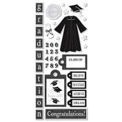 Sandylion Graduation Icons Paper with Foil Sticker, 14cm by 30cm