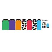 QINF 14PCS Nail Art Stickers B Series NO.1068