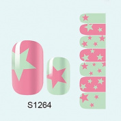 QINF 14PCS Nail Art Stickers A Series S1264