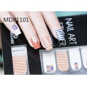 QINF 14PCS Candy Colour Cartoon Nail Art Stickers MDP Series NO.1101