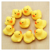 FTXJ 12PCS Rubber Duck Ducky Duckie Baby Shower Bath Favours Swimming Toys
