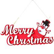 Kingfansion 1pc Christmas Snowman Merry Christmas Hanging Decoration