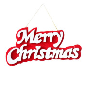 Kingfansion 1pc Christmas Letter Merry Christmas Hanging Decoration