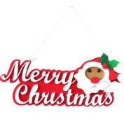 Kingfansion 1pc Christmas Santa Claus Merry Christmas Hanging Decoration