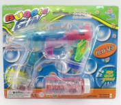 Battery Operated Novelty Light-up LED Transparent Bubble Gun