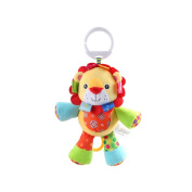 X-star Cute Lion Shape Design Bell Rings Toys Multifunctional Solf Baby Rattle Toys