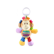 X-star Cute Monkey Shape Design Bell Rings Toys Multifunctional Solf Baby Rattle Toys