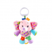 X-star Cute Pink Elephant Shape Design Bell Rings Toys Multifunctional Solf Baby Rattle Toys