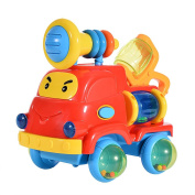 Acefun Puzzle Assembly Engineering Car Toy for Baby with Music and Light