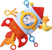 HABA Rocket Teether Cuddly - Machine Washable Plush Activity Toy with Teething Elements