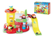 Battery Operated Toy Parking Garage with Vehicles