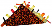 Yellow & Orange Flames ~ Reversible Blanket with Ribbon Tabs