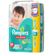 Pampers Nappies -Pampers pants M-size(7-12kg) 74 sheets [Japanese Import]