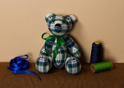 "Soft Toy ""Cheque Patterned Bear"""