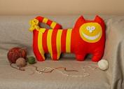 "Pillow Toy ""Orange Cat"""