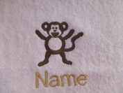 Face Cloth, Hand Towel, Bath Towel or Bath Sheet Personalised with MONKEY logo and name of your choice