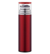 Business transparent cover stainless steel mug,red