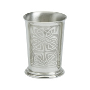 Edwin Blyde & Co Beaker with Flaired Top And Rolled Traditional Celtic Pattern, Pewter