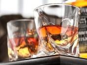 Set of 4 Quadro Crystal Glasses Tumblers 340 ml Whiskey Spirits Port Whisky