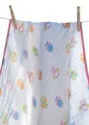 Angel Dear Muslin Nap Blanket, Pink Owl by Angel Dear