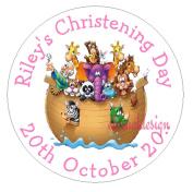 Eternal Design 24 x 45mm Glossy Christening Day White Stickers CDCS 17